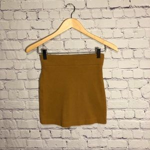 Forever 21 brown mini pencil skirt size small